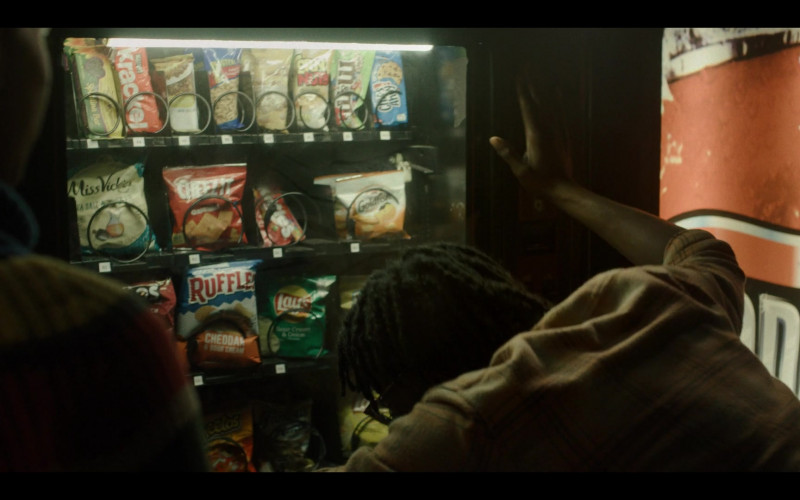 Hershey's Krackel, M&M's, Chips Ahoy!, Miss Vickie's, Cheez-It, Pepperidge Farm Goldfish, Ruffles, Lay's, Cheetos in Generation S01E07 Desert Island (2021)