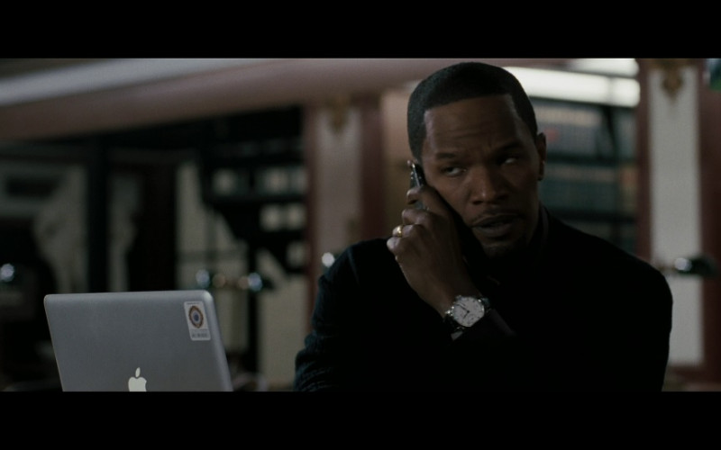IWC Portuguese Automatic 5001 Watch and Apple MacBook Laptop of Jamie Foxx as Nicholas 'Nick' Rice in Law Abiding Citizen (2009)