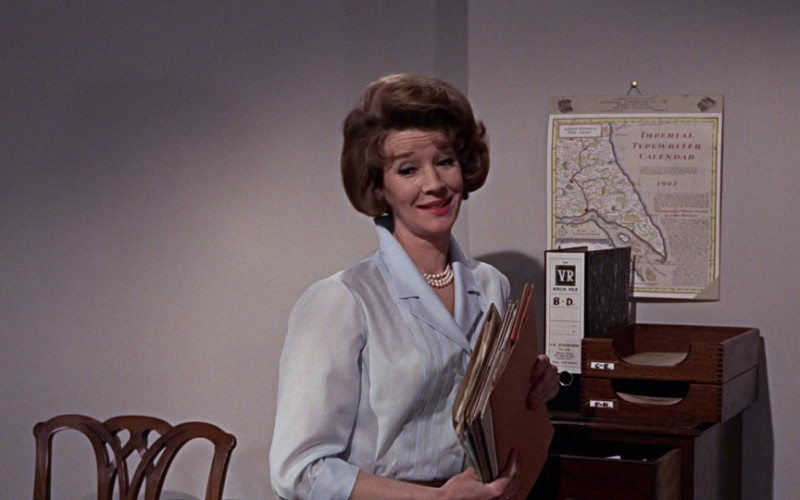 Imperial Typewriter Calendar & VR Arch File in From Russia with Love (1963)