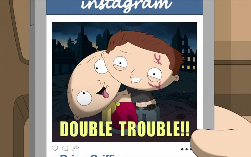 Instagram Social Network in Family Guy S19E13 PeTerminator (2021)