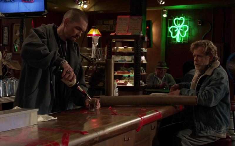 Jameson Whiskey Bottle Held by Cast Member Steve Howey as Kevin 'Kev' Ball in Shameless S11E09 Survivors (2021)