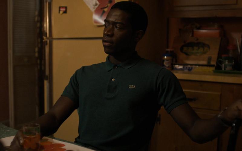 Lacoste Men's Polo Shirt of Damson Idris as Franklin Saint in Snowfall S04E03 TV Show (1)
