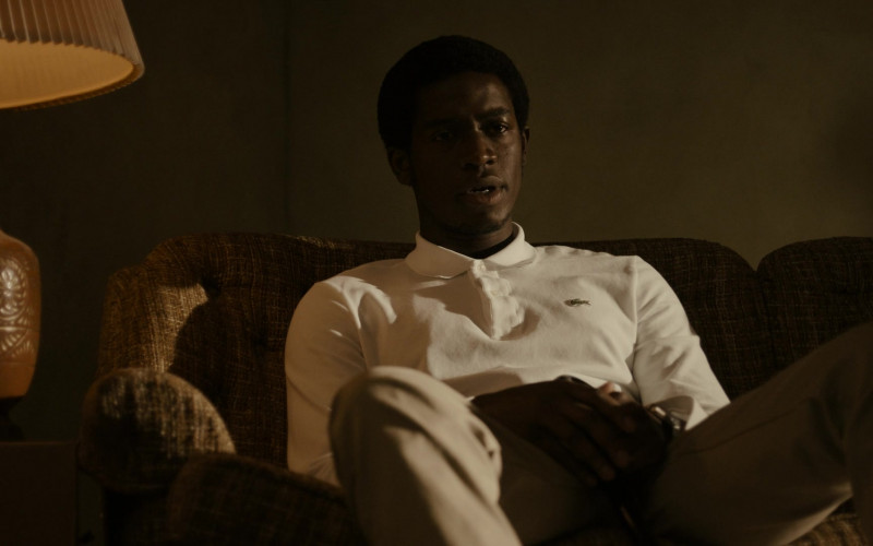 Lacoste White Shirt Worn by Cast Member Damson Idris as Franklin Saint in Snowfall S04E06 Say a Little Prayer (2021)