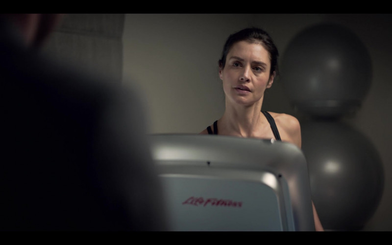 Life Fitness Treadmill of Hannah Ware stars as Rebecca in The One S01E01 (2021)