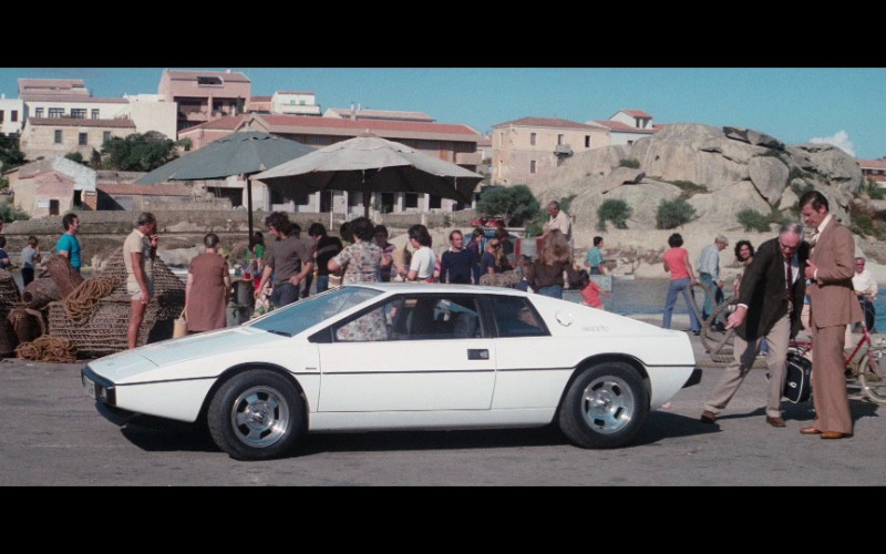 Lotus Esprit White Sports Car in The Spy Who Loved Me (1977)