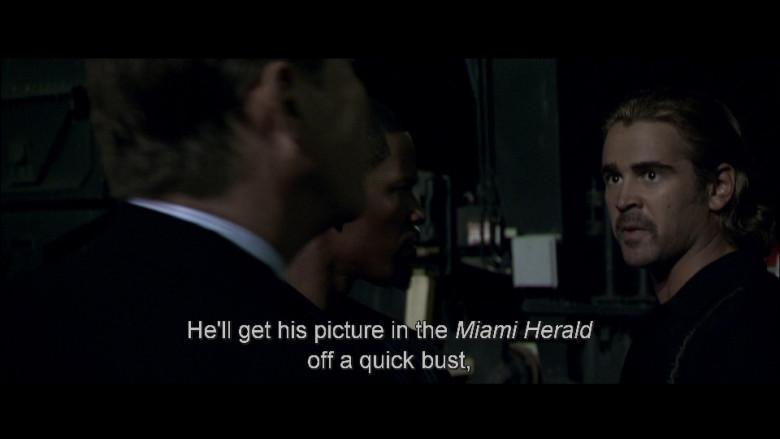 Miami Herald Newspaper in Miami Vice (2006)