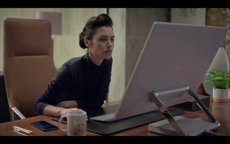 Microsoft Surface All-In-One PC Used by Hannah Ware as Rebecca Webb in The One S01E03 (2021)