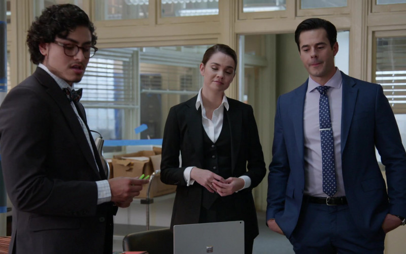 Microsoft Surface Laptop of Cast Member Maia Mitchell as Callie Adams Foster in Good Trouble S03E06 TV Show (3)