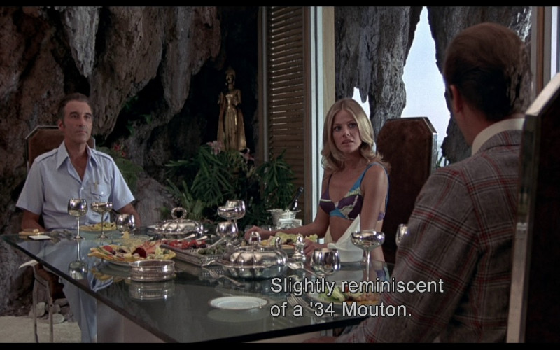 Mouton Rothschild Wine in The Man with the Golden Gun (1974)