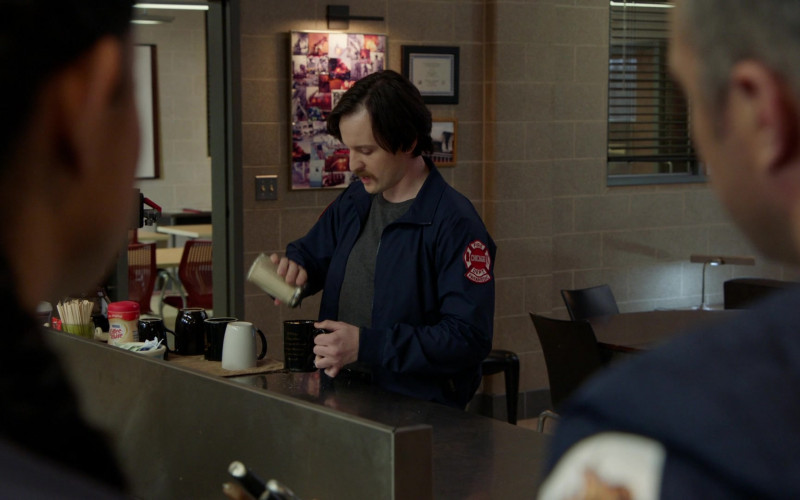 Nestle Coffee-mate Coffee Creamer Enjoyed by Cast Members in Chicago Fire S09E09 TV Show (2)