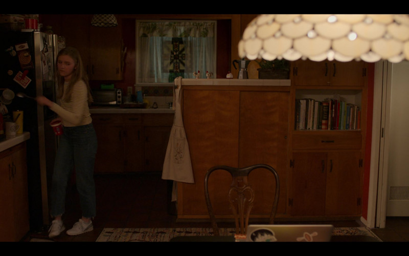 New Balance White Shoes of Hadley Robinson as Vivian Carter in Moxie (2021)