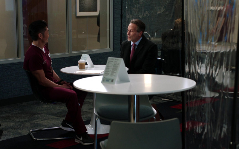 Nike Men's Sneakers of Brian Tee as Ethan Choi in Chicago Med S06E08 Fathers and Mothers, Daughters and Sons (2021)