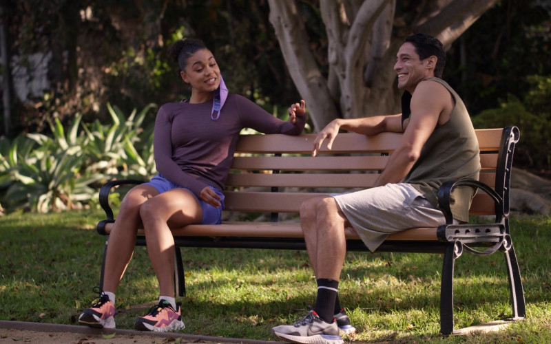 Nike Renew Run Men's Running Shoe Worn by Actress in Station 19 S04E07 Learning to Fly (2021)