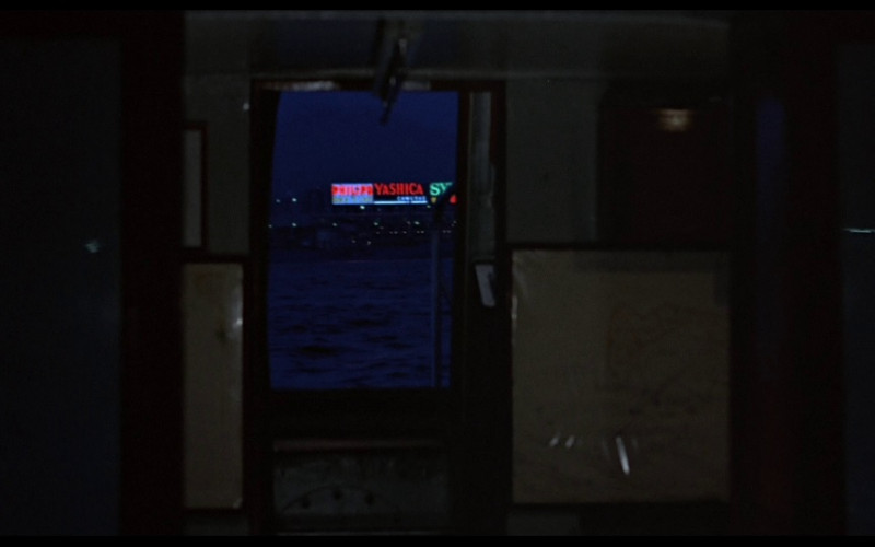 Philips & Yashica neon signs in The Man with the Golden Gun (1974)
