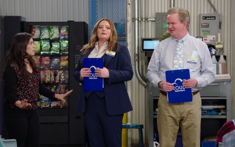 Popchips, Lay's, Herr's, Fritos, Doritos, Cheetos, M&M's in Superstore S06E14 Perfect Store (2021)