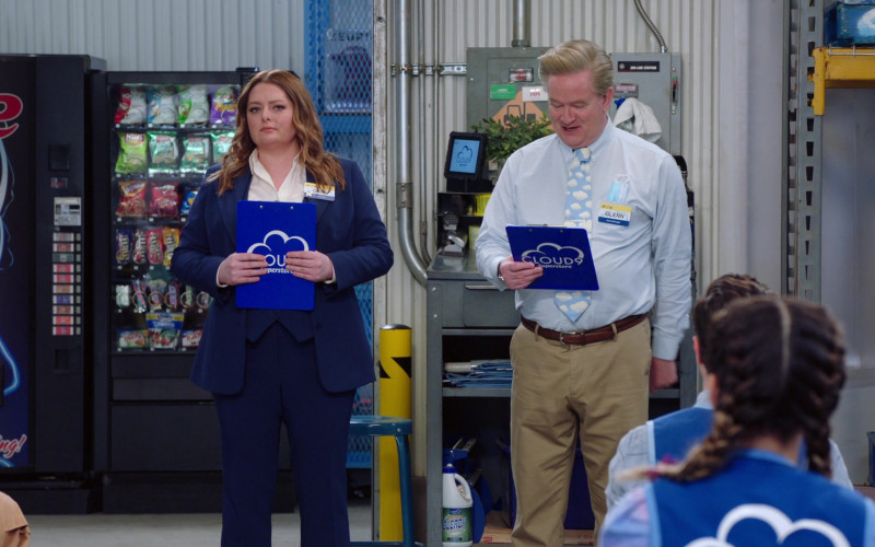 Popchips, Lay's, Herr's, Fritos, Doritos, M&M's in Superstore S06E12 Customer Satisfaction (2021)
