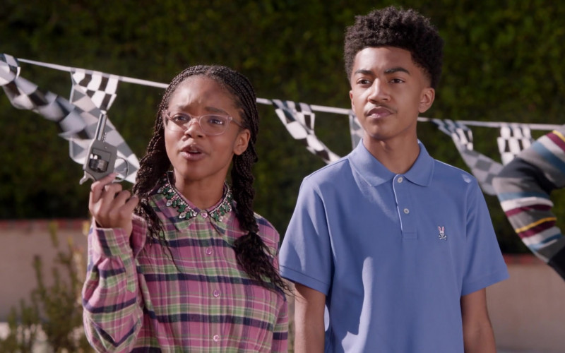 Psycho Bunny Polo Shirt of Miles Brown in Black-ish S07E16 (1)