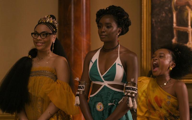 Puma Dress of KiKi Layne as Princess Meeka Joffer in Coming 2 America (5)