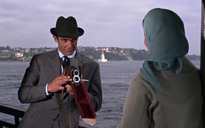 Rolleiflex camera of Sean Connery as James Bond, MI6 agent 007 in From Russia with Love (1963)