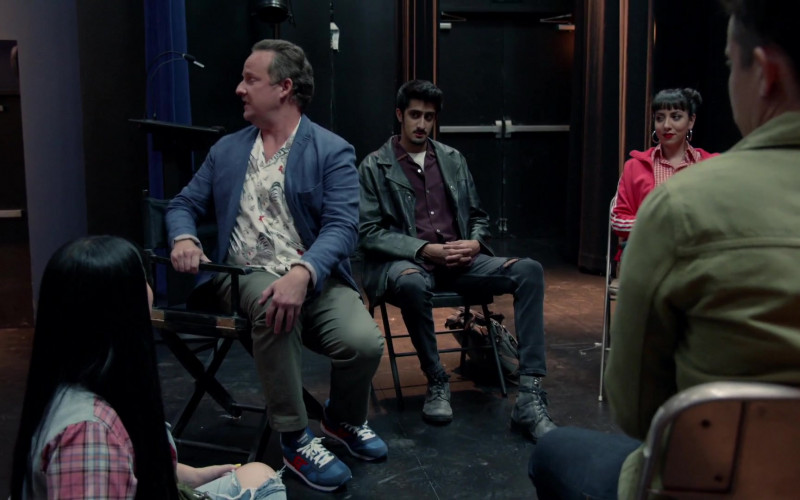 Saucony Men's Blue Sneakers in Good Trouble S03E03 Whoosh, Pow, Bang (2021)