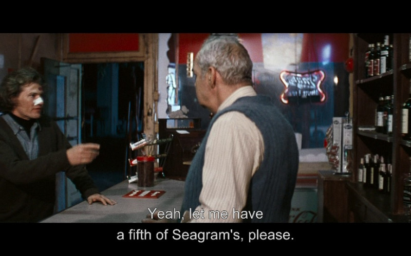 Seagram's Seven Crown Whisky in Dirty Harry (1971)
