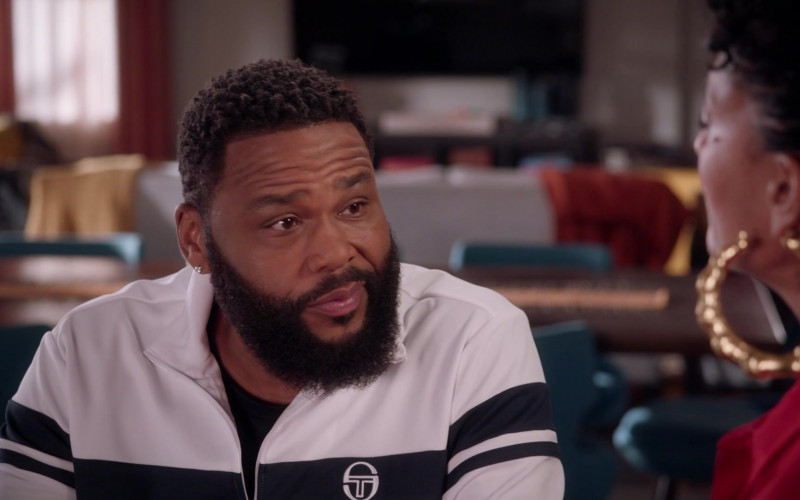 Sergio Tacchini Track Jacket of Anthony Anderson as Dre Johnson in Black-ish S07E16 2021 (3)