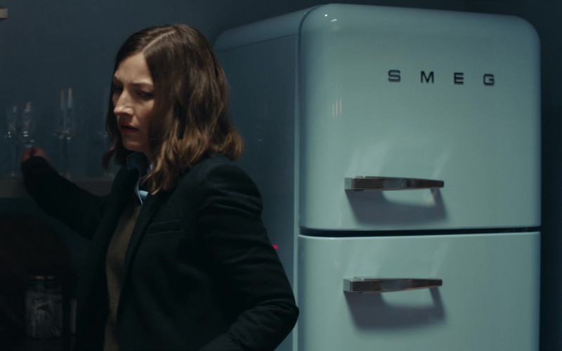Smeg Refrigerator of Kelly Macdonald as Detective Chief Inspector Joanne Davidson in Line of Duty S06E01 TV Show (1)