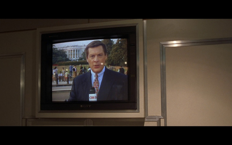 Sony TV and CNN TV Channel in Air Force One (1997)