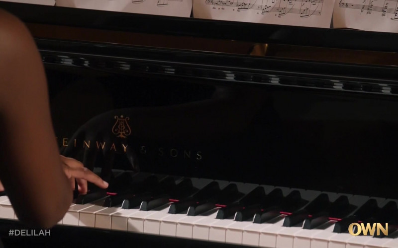 Steinway & Sons Grand Piano in Delilah S01E01 TV Show (1)