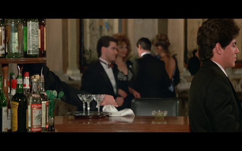 Stolichnaya vodka, Smirnoff vodka, Martini & Rossi, Cutty Sark whisky & Bacardi in Licence To Kill (1989)