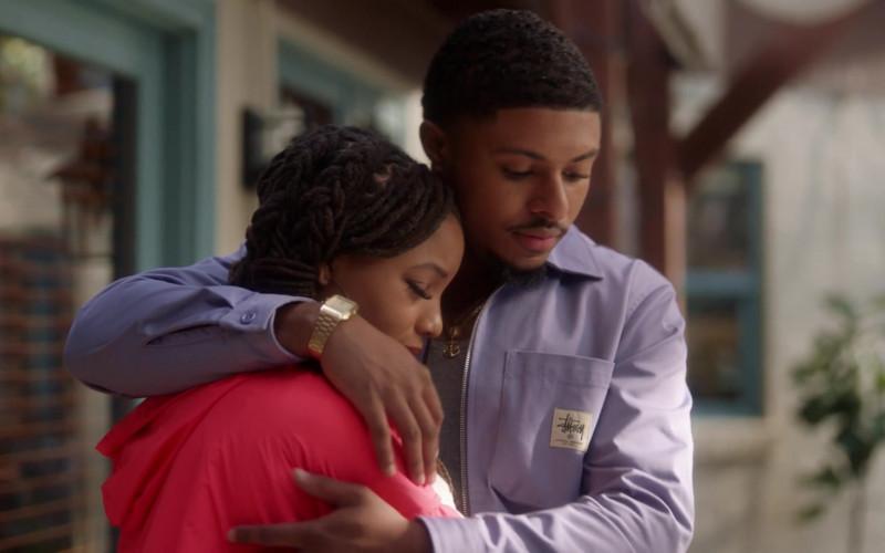 Stüssy Men's Jacket in Grown-ish S03E16 All in Love Is Fair (2021)
