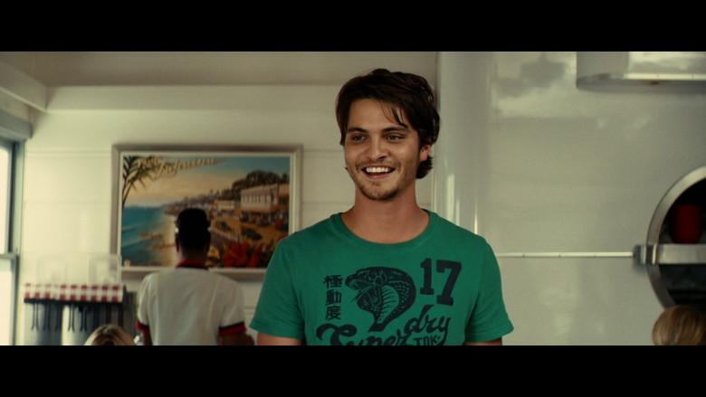 Superdry Green T-Shirt of Luke Grimes as Jamie in Taken 2 (2012)