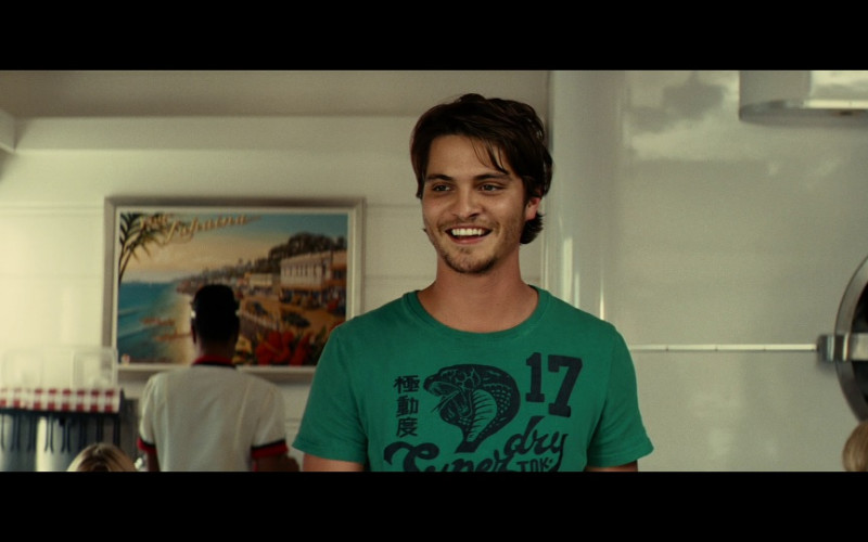 Superdry Green T-Shirt of Luke Grimes as Jamie in Taken 2 (2012)