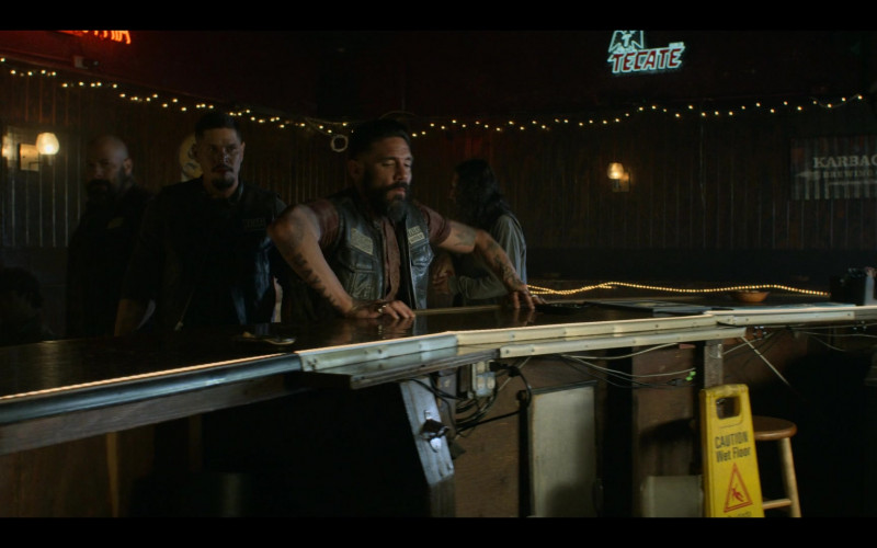 Tecate Sign and Karbach Brewing Co. Drawing in Mayans M.C. S03E01 Pap Struggles with the Death Angel (2021)