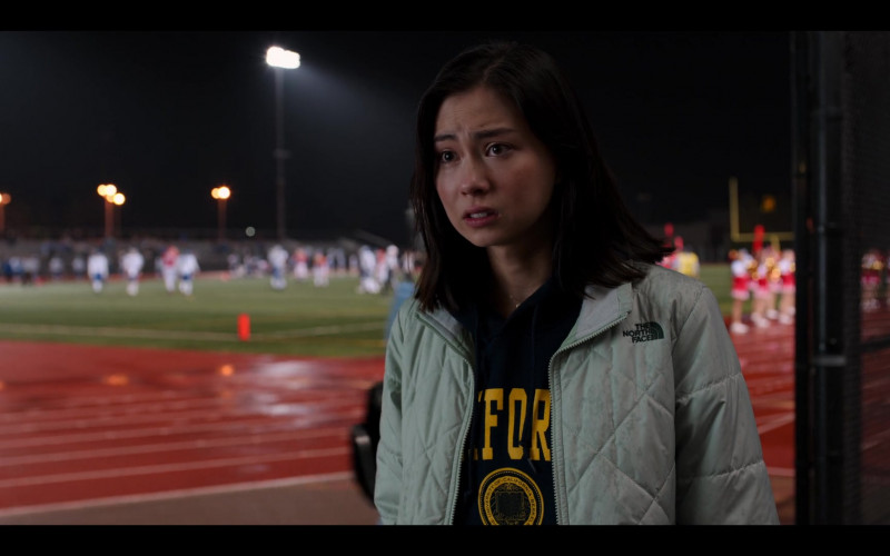 The North Face Jacket of Lauren Tsai as Claudia in Moxie Movie by Netflix (1)