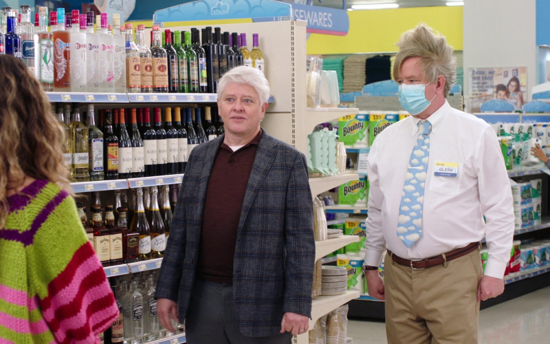 Tito's Vodka, Jack Daniel's Whiskey, Bounty Paper Towels in Superstore S06E13 Lowell Anderson (2021)