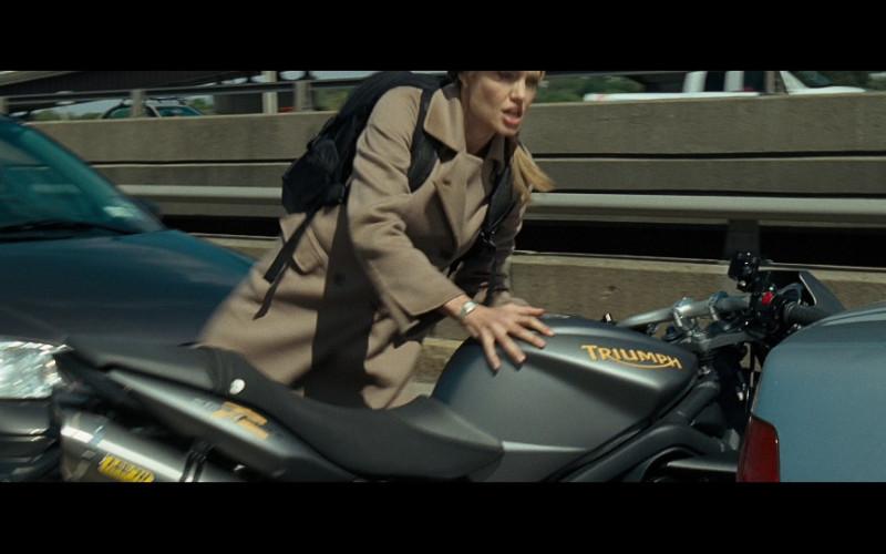 Triumph Street Triple R Motorcycle of Angelina Jolie as Evelyn in Salt (2010)