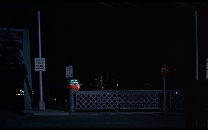 Union Pacific Railroad Sign in Vanishing Point (1971)