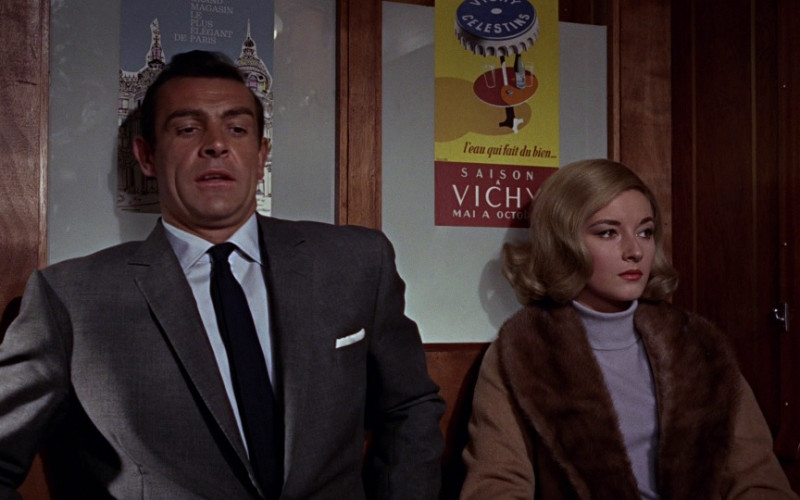 Vichy Celestins water ad in From Russia with Love (1963)