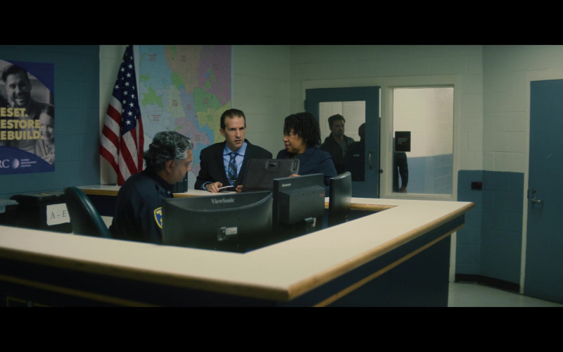 Viewsonic and Lenovo Monitors in The Falcon and the Winter Soldier S01E02 The Star Spangled Man (2021)