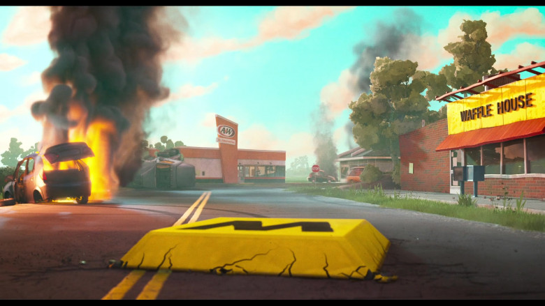 A&W Restaurant and Waffle House in The Mitchells vs. the Machines (2021)