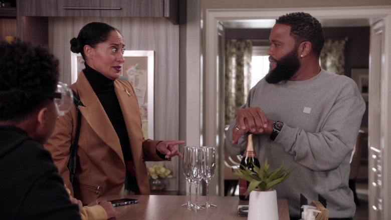 Acne Studios Grey Sweatshirt Worn by Anthony Anderson as Andre 'Dre' Johnson in Black-ish S07E17
