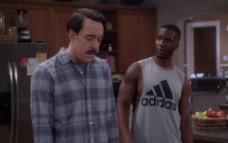 Adidas Men's Tee in Dad Stop Embarrassing Me! S01E05 #TheMotherPucker (2021)