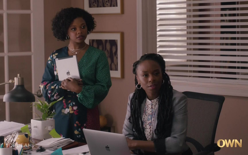 Apple iPad Tablet and MacBook Laptop in Delilah S01E07 Purple Empress (2021)