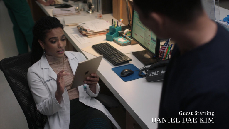 Apple iPad Tablet of Freema Agyeman as Dr. Helen Sharpe in New Amsterdam S03E06 Why Not Yesterday (2021)