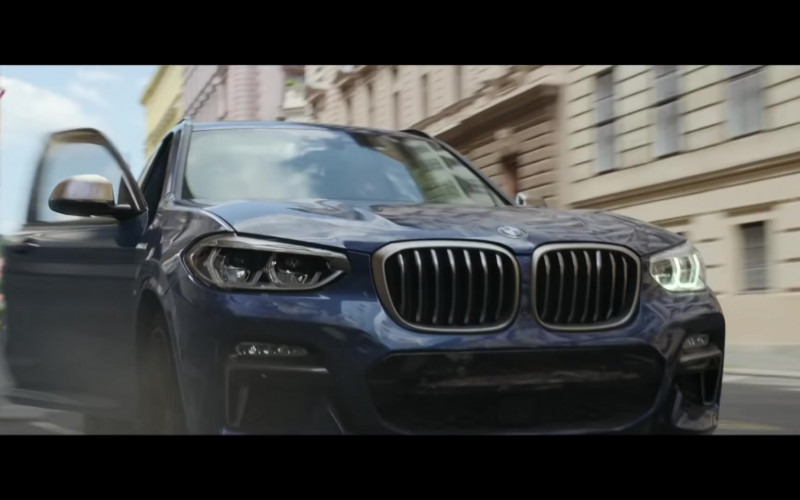 BMW X3 Blue Car in Black Widow (2021)
