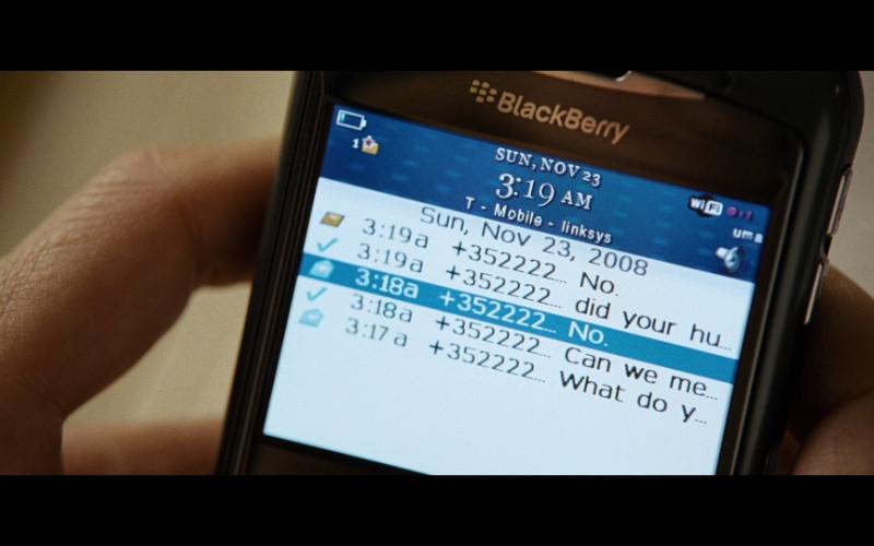 BlackBerry mobile phone in The International (2009)
