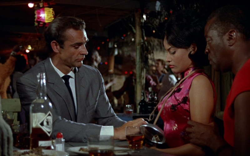 Buchanans Black & White Whisky Enjoyed by Sean Connery as James Bond in Dr. No (1962)