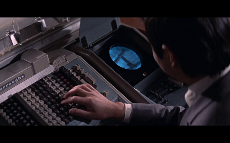 Burroughs Adding Machine in You Only Live Twice (1967)
