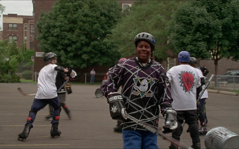 CCM Hockey Gloves of Kenan Thompson as Russ Tyler in D3 The Mighty Ducks (1996)